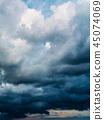 Rain Storm Clouds Gathering On Sky 45074069