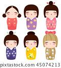 kokeshi set doll 45074213