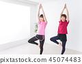 瑜伽 瑜珈 伸展 45074483