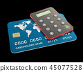Bank card with security token, isolated black 3d Illustration 45077528