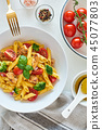 pasta, salad, basil 45077803