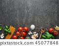 西红柿 番茄 罗勒属植物 45077848