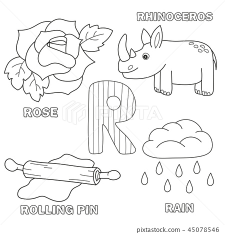 Alphabet Letter With Alphabet Letters - R.... - Stock Illustration  [45078546] - PIXTA