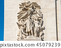 Details of Arc de Triomphe in Paris 45079239