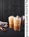 coffee, caramel, cream 45079776