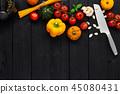 knife vegetables spaghetti 45080431