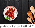 tomato, tomatoes, basil 45080471