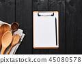 clipboard,paper,spoon 45080578