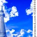 푸른 하늘 스카이 트리 45084444