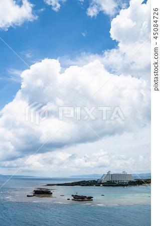 沖繩海天空雲彩 45084726