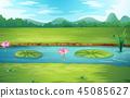 river, nature, vector 45085627