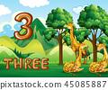 长颈鹿 矢量 矢量图 45085887