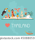 thailand vector map 45088059