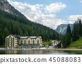 Lago Misurina in the Italian Dolomites 45088083