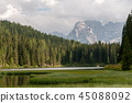 Lago Misurina in the Italian Dolomites 45088092
