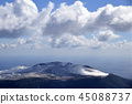 大岛渚 三原山 雪冠 45088737