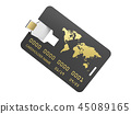 3d Illustration of USB flash card corporate identity, isolated white 45089165