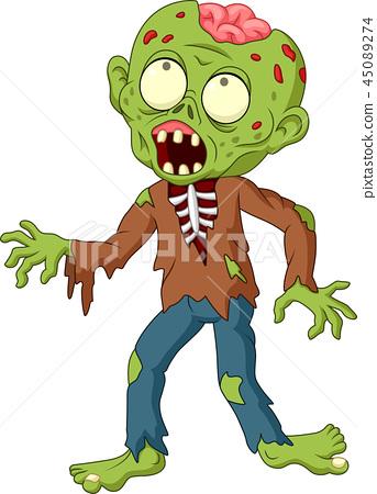 Cartoon zombie isolated on white background 45089274