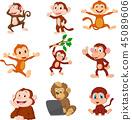 cartoon, collection, happy 45089606