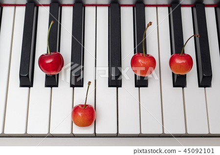 체리 가르치는 피아노 코드 minor 7th 시리즈 - G # m7 / Abm7 45092101