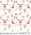 Watercolor vector pattern medieval illustrations 45092731