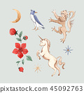 Watercolor vector set with medieval illustrations 45092763