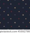 Stars seamless vector pattern 45092798