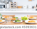 dining, table, cooked 45093631