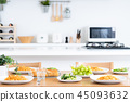 dining, table, cooked 45093632