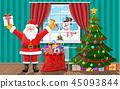 santa, christmas, gift 45093844