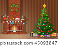 christmas, interior, room 45093847
