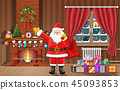 christmas, interior, room 45093853