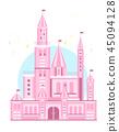 Cute Pink Castle vector 45094128