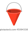 Red metal fire bucket icon cartoon. Single silhouette fire equipment icon from the big fire 45094338