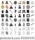 Crime set icons in cartoon style. Big collection of crime vector symbol stock illustration 45094345