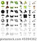 brazil, icon, set 45094362