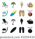 summer, black, symbol 45094436