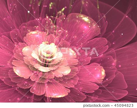 purple fractal flower 45094823