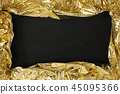 Chalkboard with a golden frame 45095366