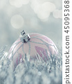Christmas bauble with silver garland 45095368