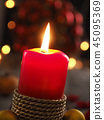 Advent candle, Christmas concept background 45095369
