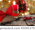 Advent candle, Christmas concept background 45095370