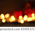Blurred golden Christmas lights 45095372