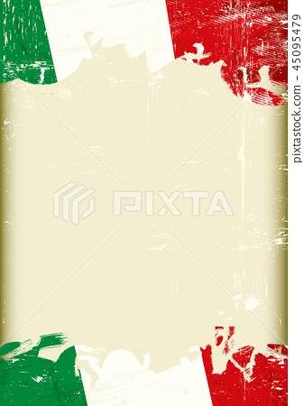 Dirty italia flag background 45095479