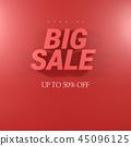 購物圖標,銷售對象,折扣事件模板,銷售橫幅和框架 45096125
