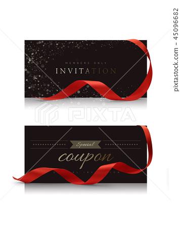 럭셔리 초대장, 초대장 소스, 할인 쿠폰, 쿠폰 템플릿 45096682