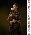 russian, costume, woman 45096910