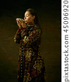 russian, costume, woman 45096920