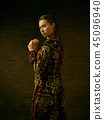 traditional, russian, costume 45096940