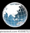 地球,世界,亚洲国家 45098752